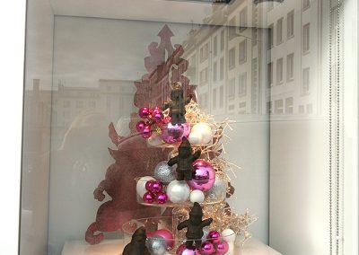 Creation de décors éphémères pour professionnels - chocolatier Noël 1