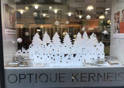 Creation de décors éphémères pour professionnels - opticien Noël