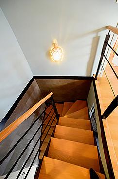 harmonie des couleurs escalier maison
